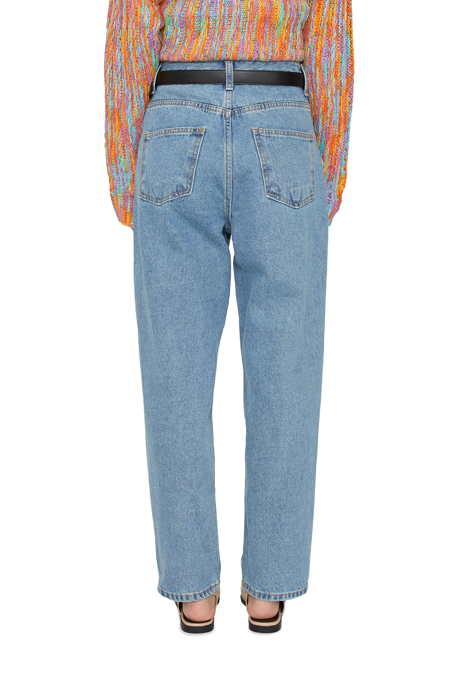 Lazy Pintuck Baggy Fit Jeans
