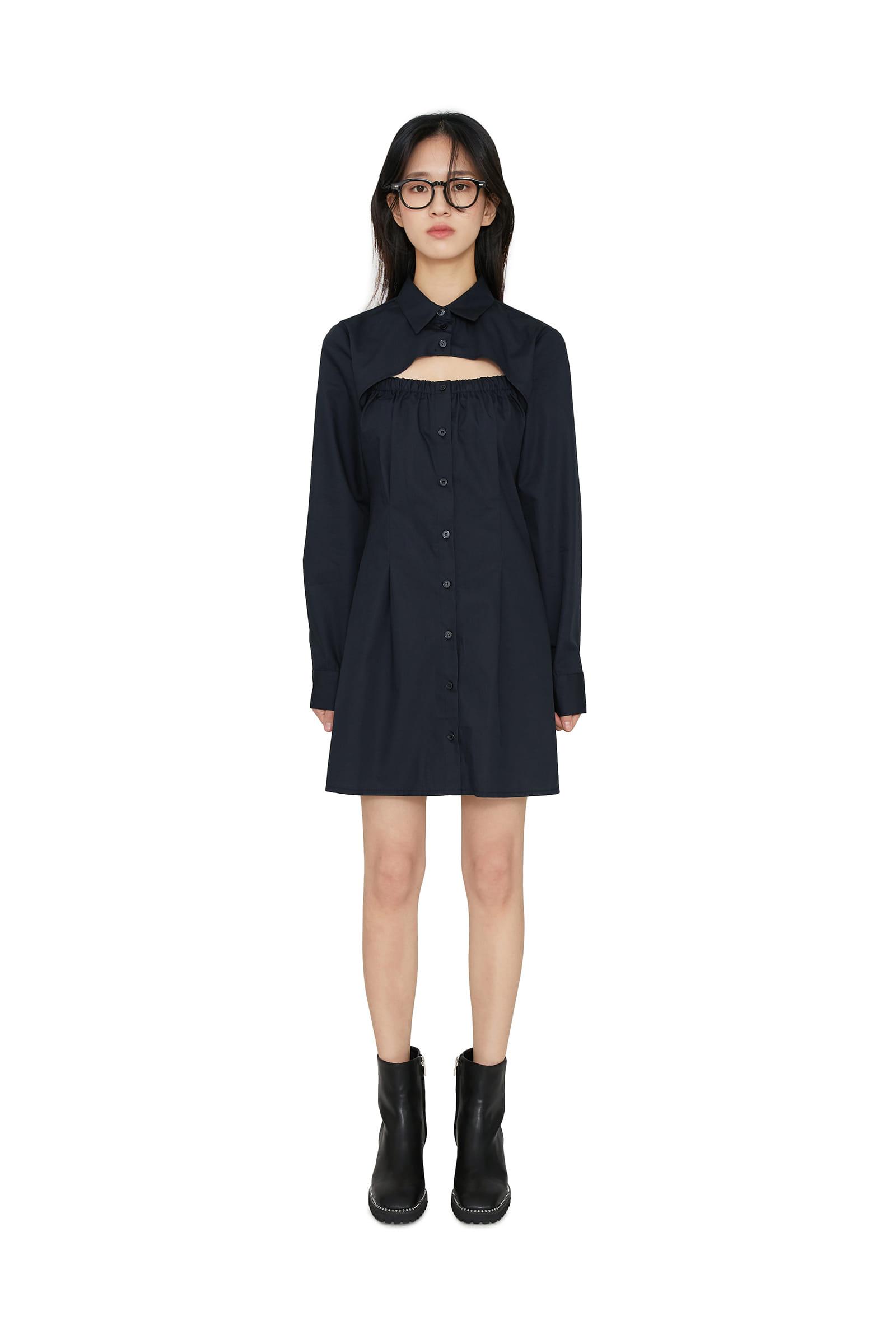 Use cutoff mini dress