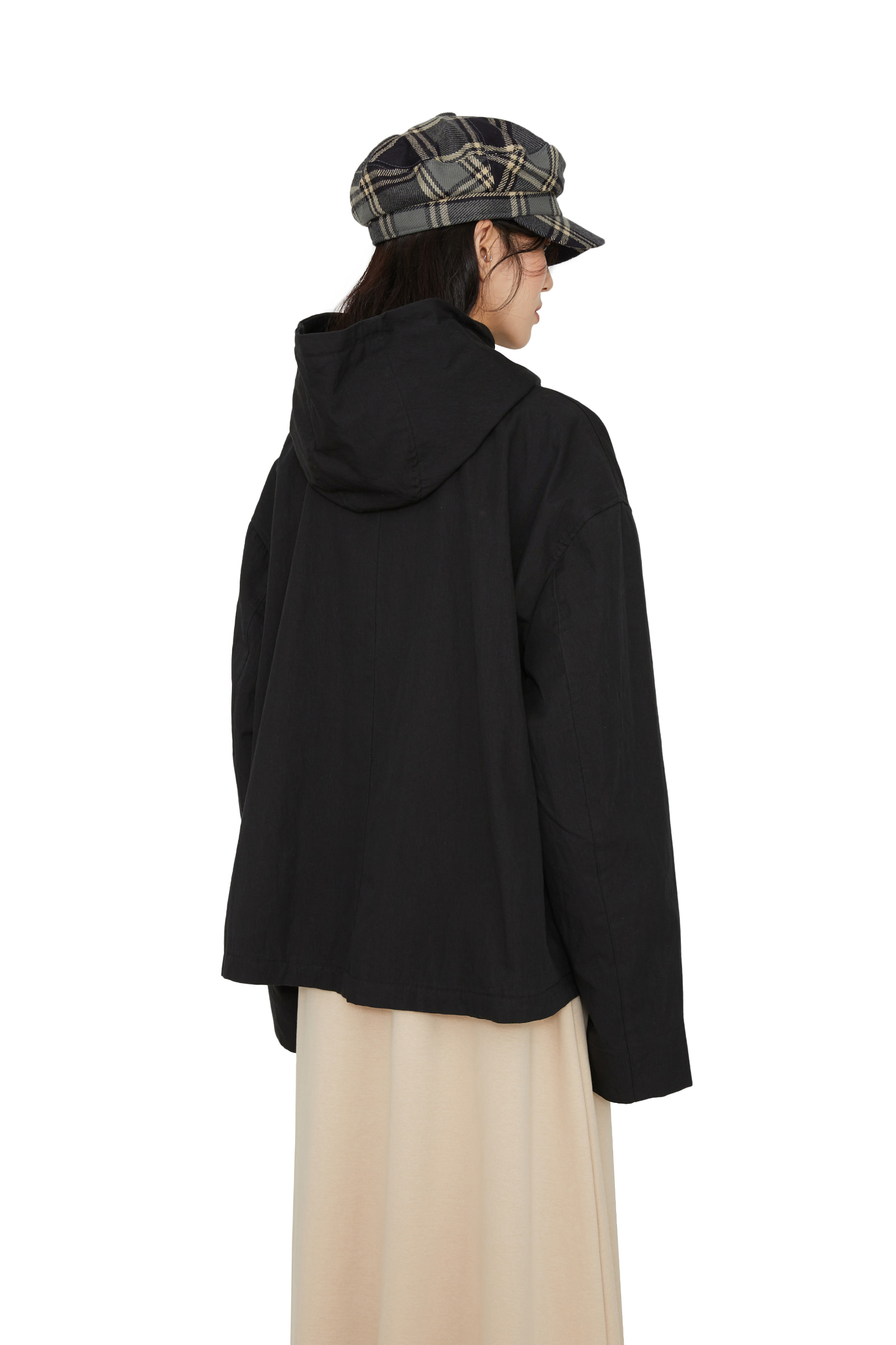 Bare overfit bomber hooded jacket