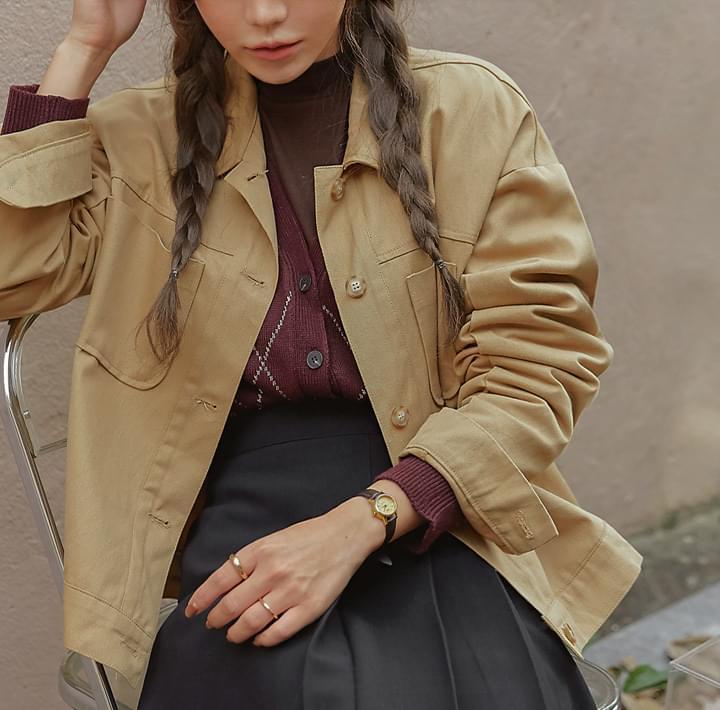Button-Up Boxy Jacket