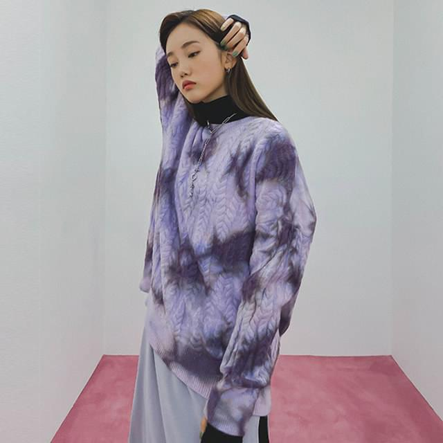 暈染風格編織毛衣