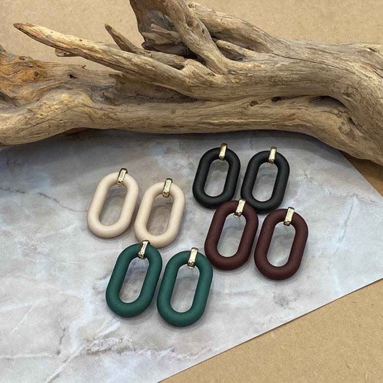 Noi Vintage Ring Color Nickel Free Needle Earrings