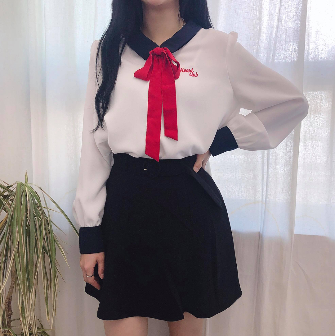 Heart Ribbon Blouse