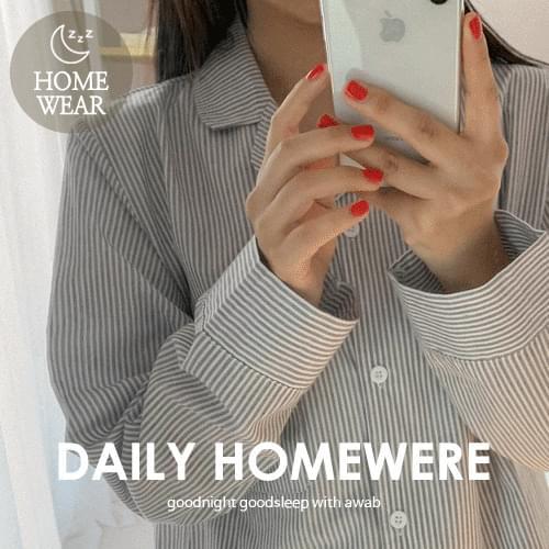 #homewear_homewear:striped pajama set