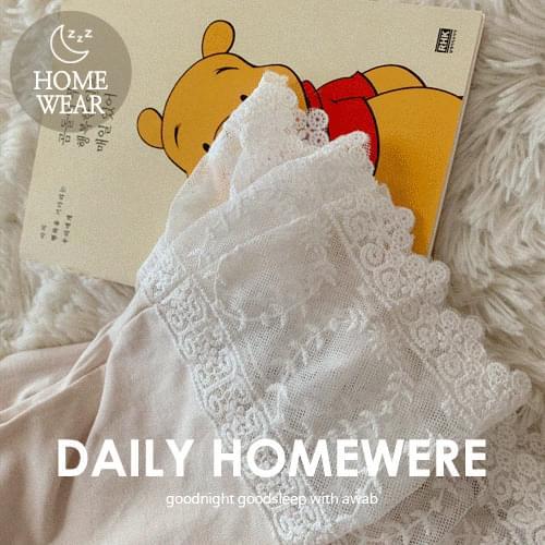 #homewear_homewear:lace pajamas set