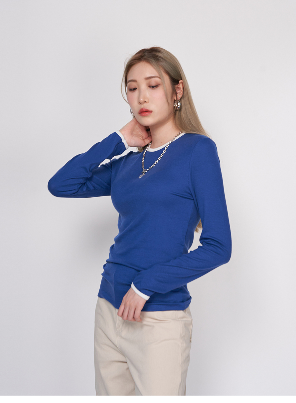 Tencel Color Long Sleeve Tee