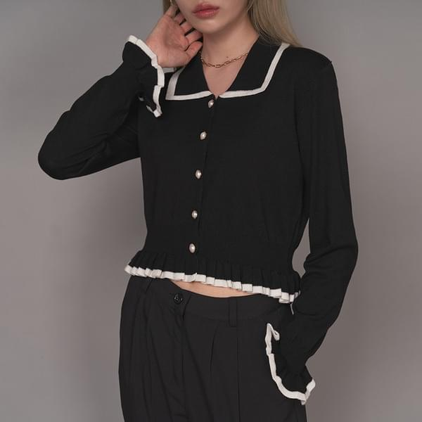 Pearl collar frill cardigan カーディガン / ベスト