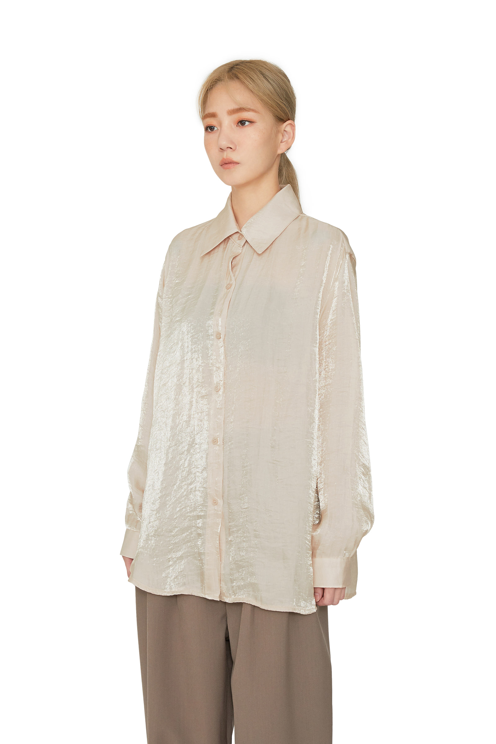 Bling satin standard shirt