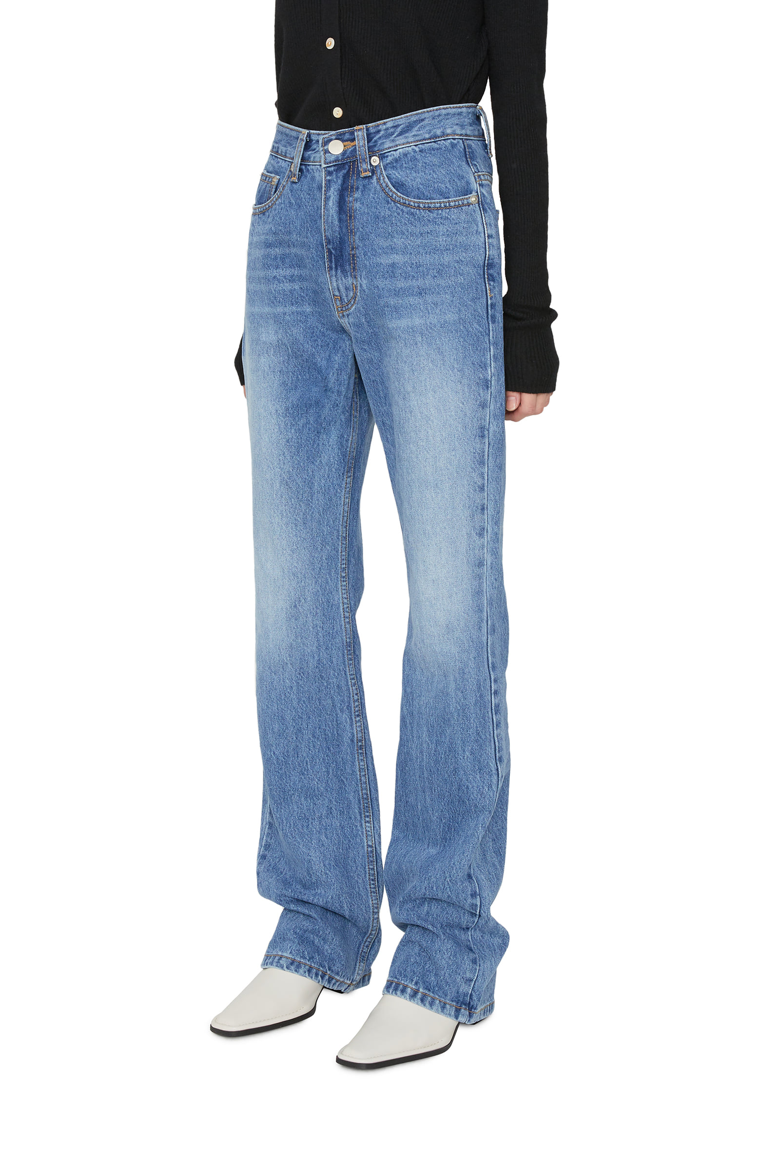 Layered bootcut jeans
