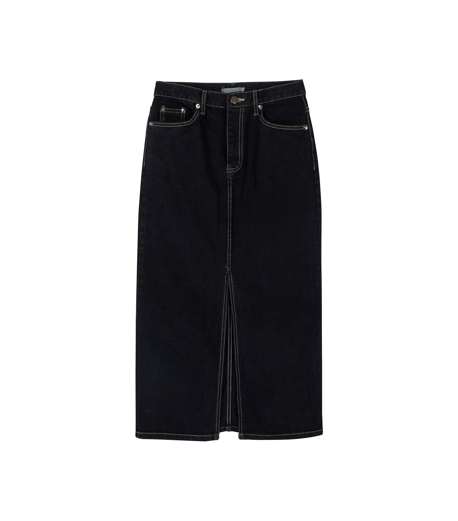 Autumn Standard Denim Maxi Skirt