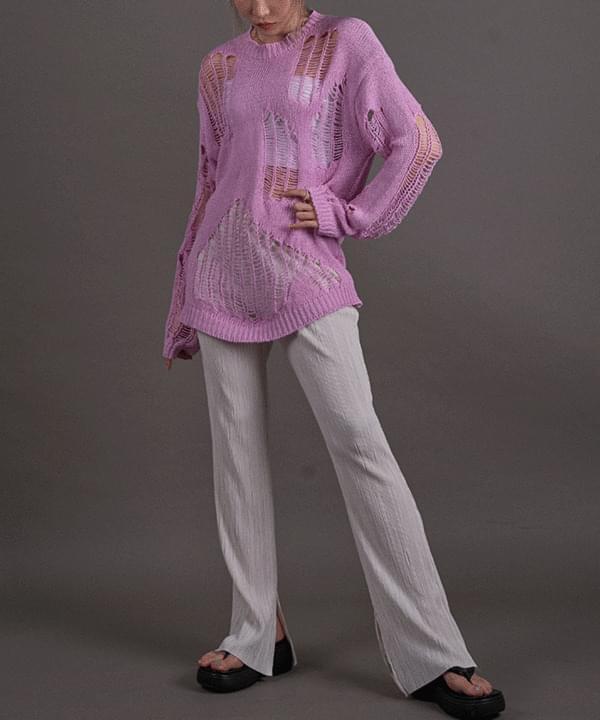 韓國空運 - Vintage net knit 針織衫