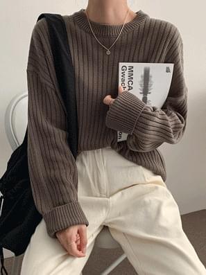 Halftone Down Round Golf Knit 針織衫