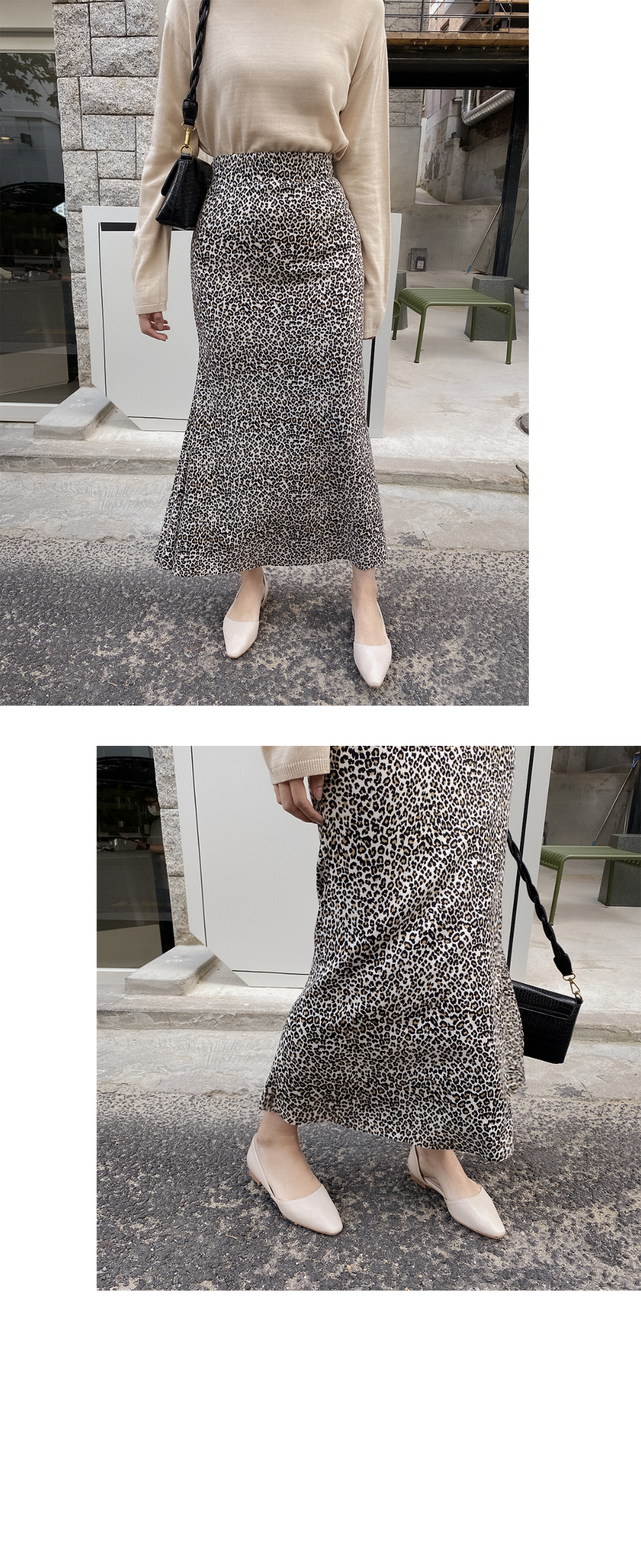 Mermaid Fit Leopard Skirt-2color