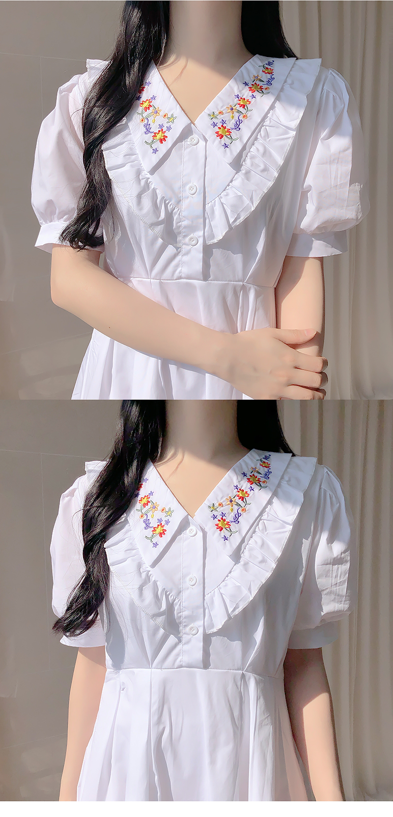 Kichi embroidery color dress