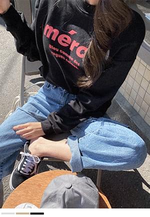 韓國空運 - Mercy Round sweat shirt 長袖上衣