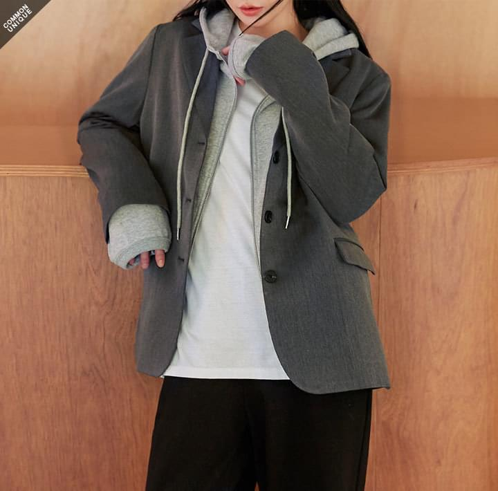BELLOW BOXY FIT SINGLE JACKET