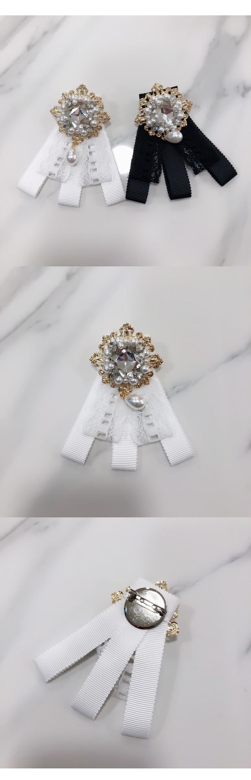9900 Rosa pearl diamond brooch