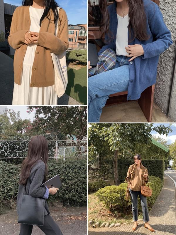 MMMM/ Cashmere Wool Knit Cardigan 開襟衫