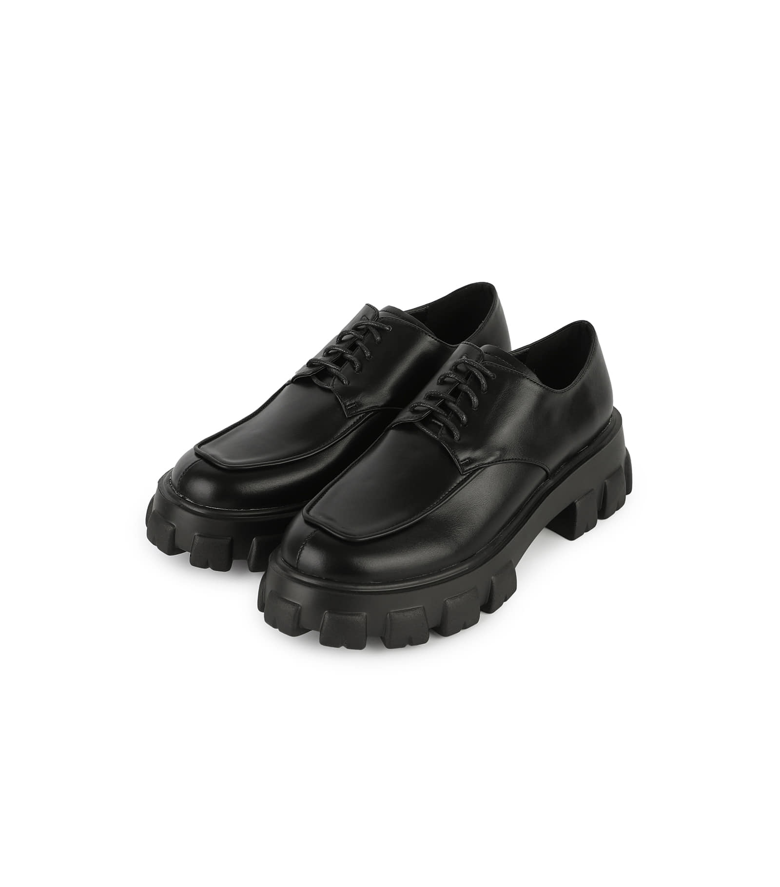 Fuzzy lace-up loafers