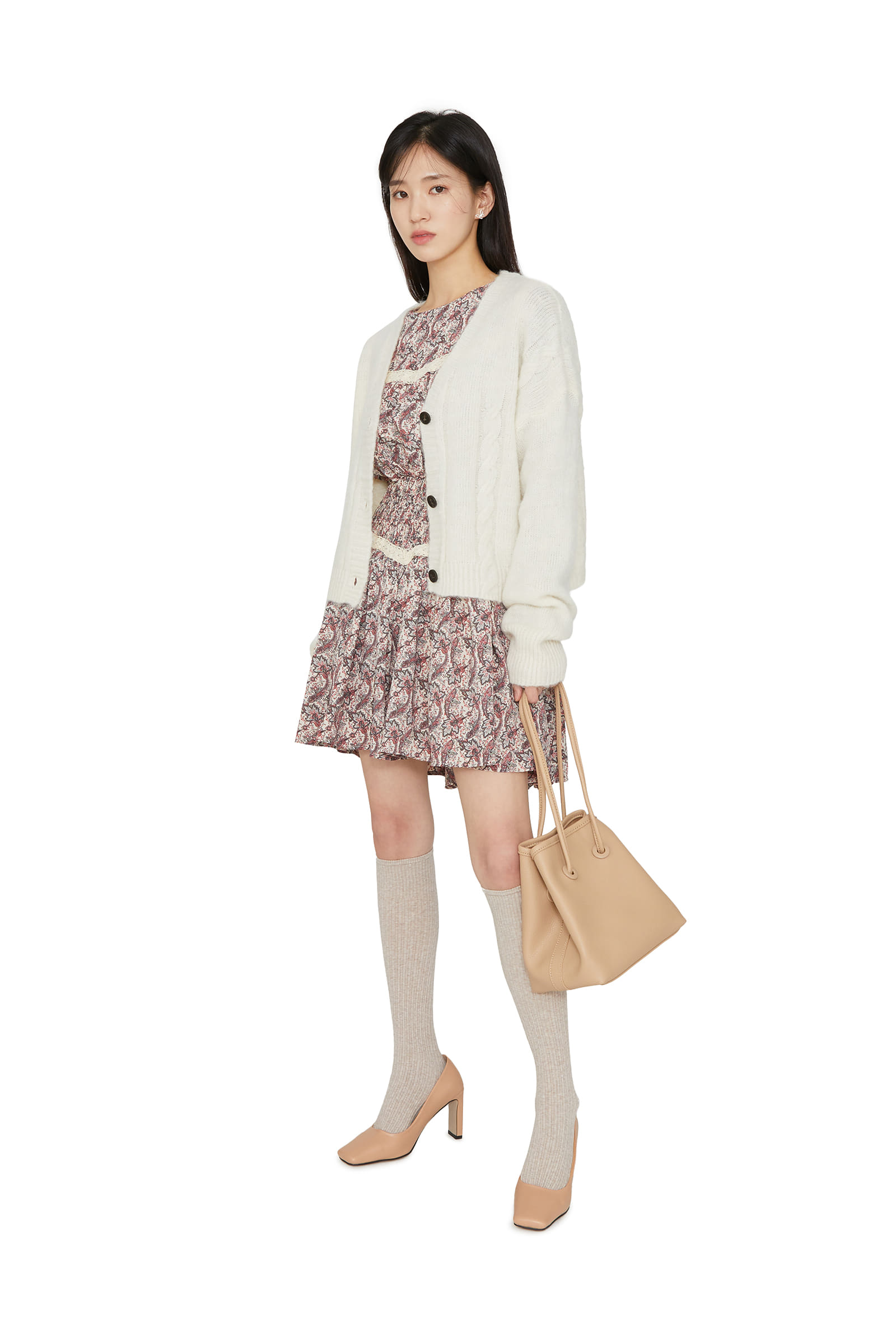 Barbie twist-knit cardigan