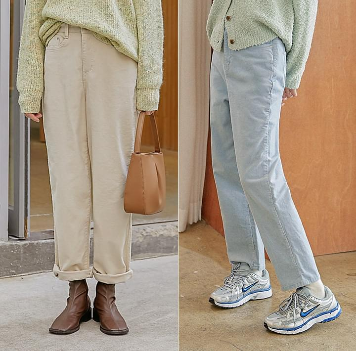 Loose Fit Corduroy Pants
