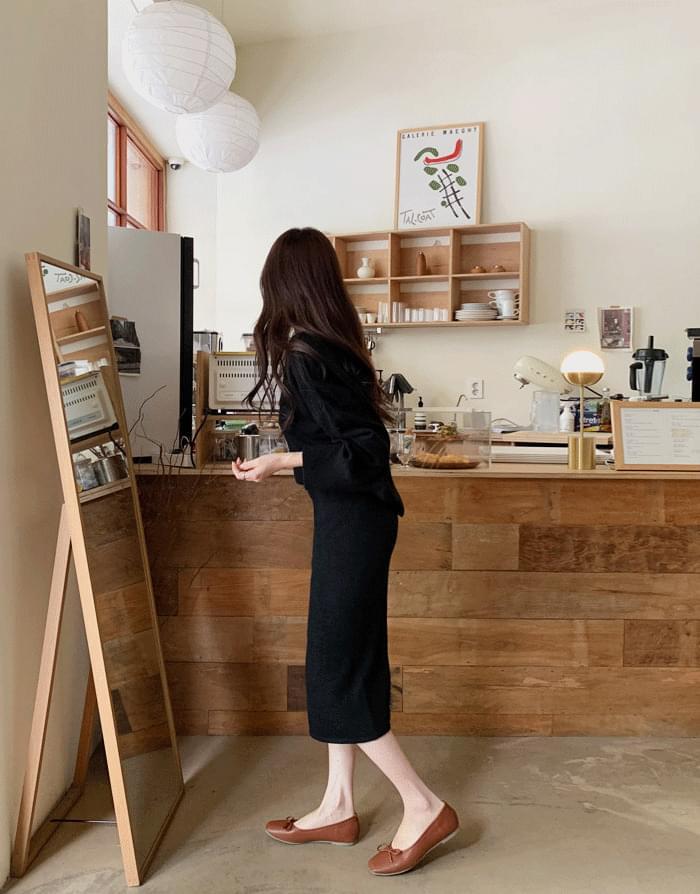 Irene Wool Cash Knit Skirt Two Piece