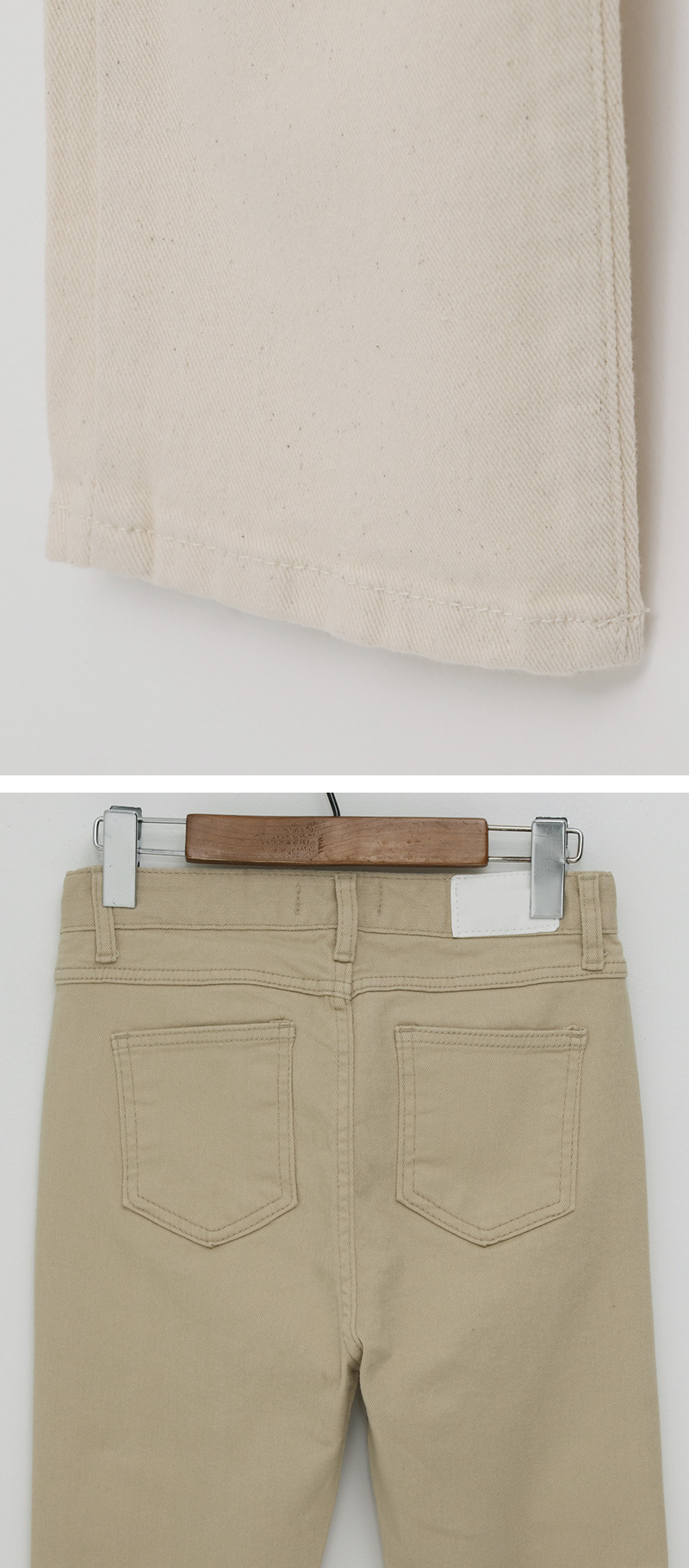 Cozy Slim Cotton Flat Pants