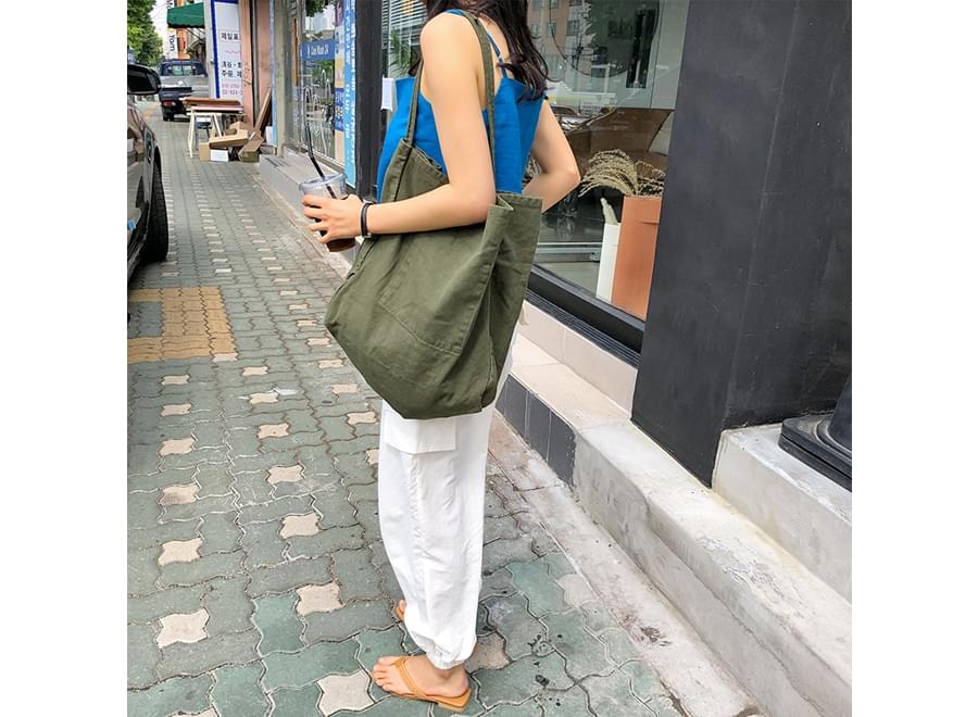 Big Basket Eco Shoulder Bag 帆布包