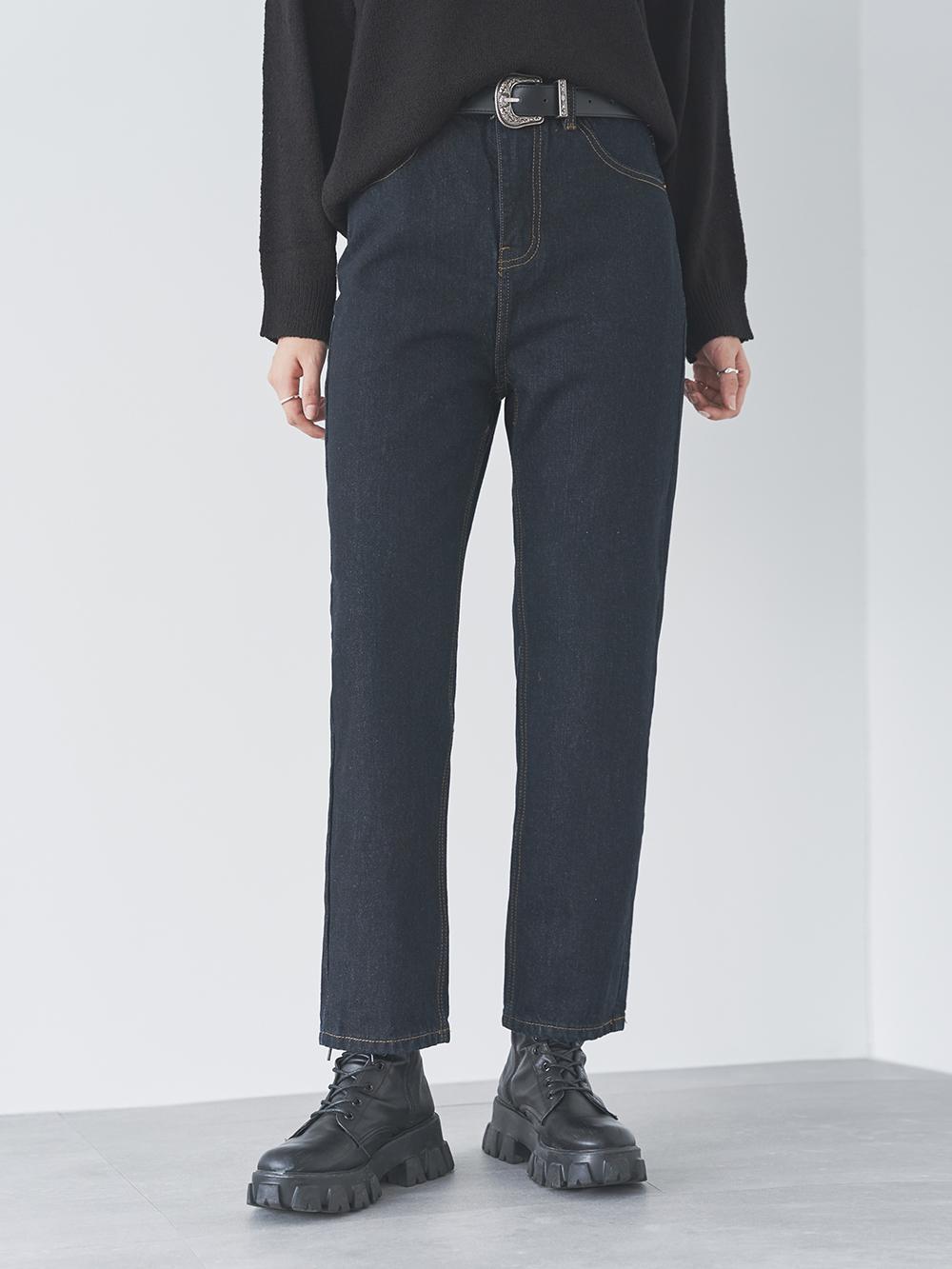Ali black straight trousers