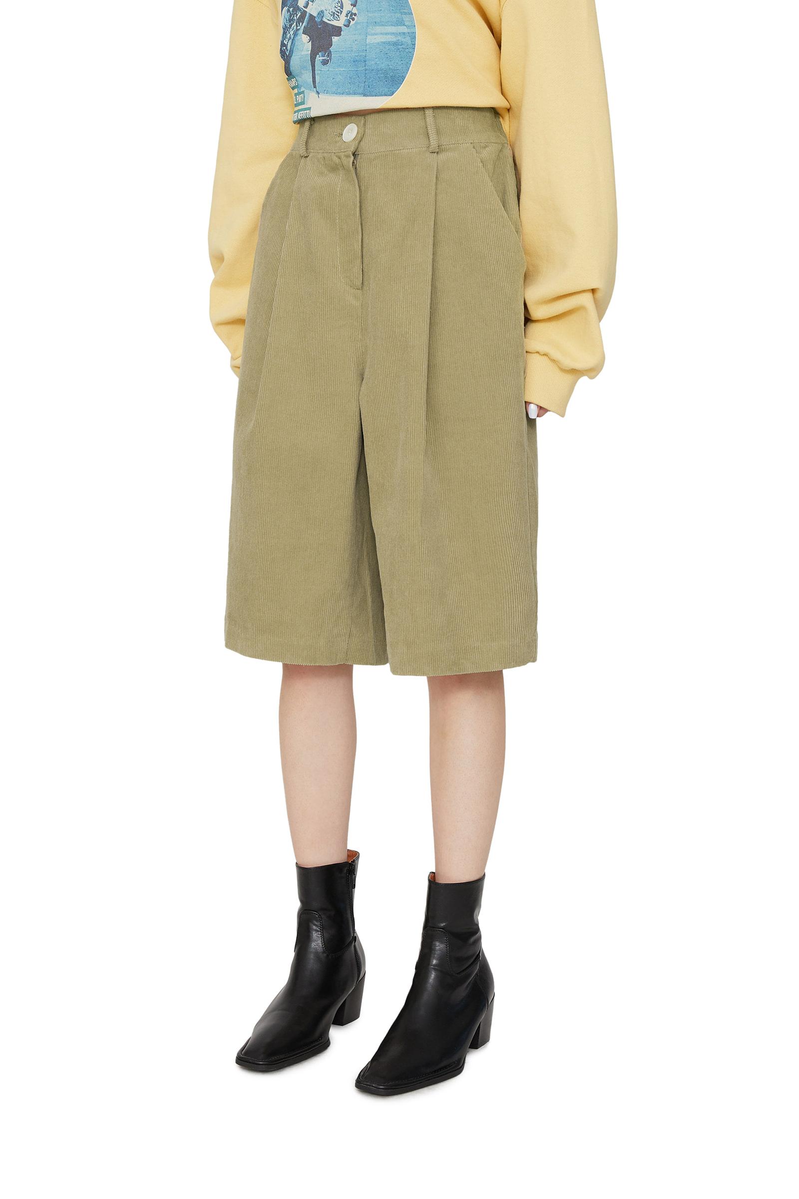 Delma corduroy half shorts