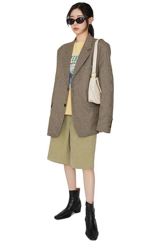 Delma corduroy half shorts ショートパンツ