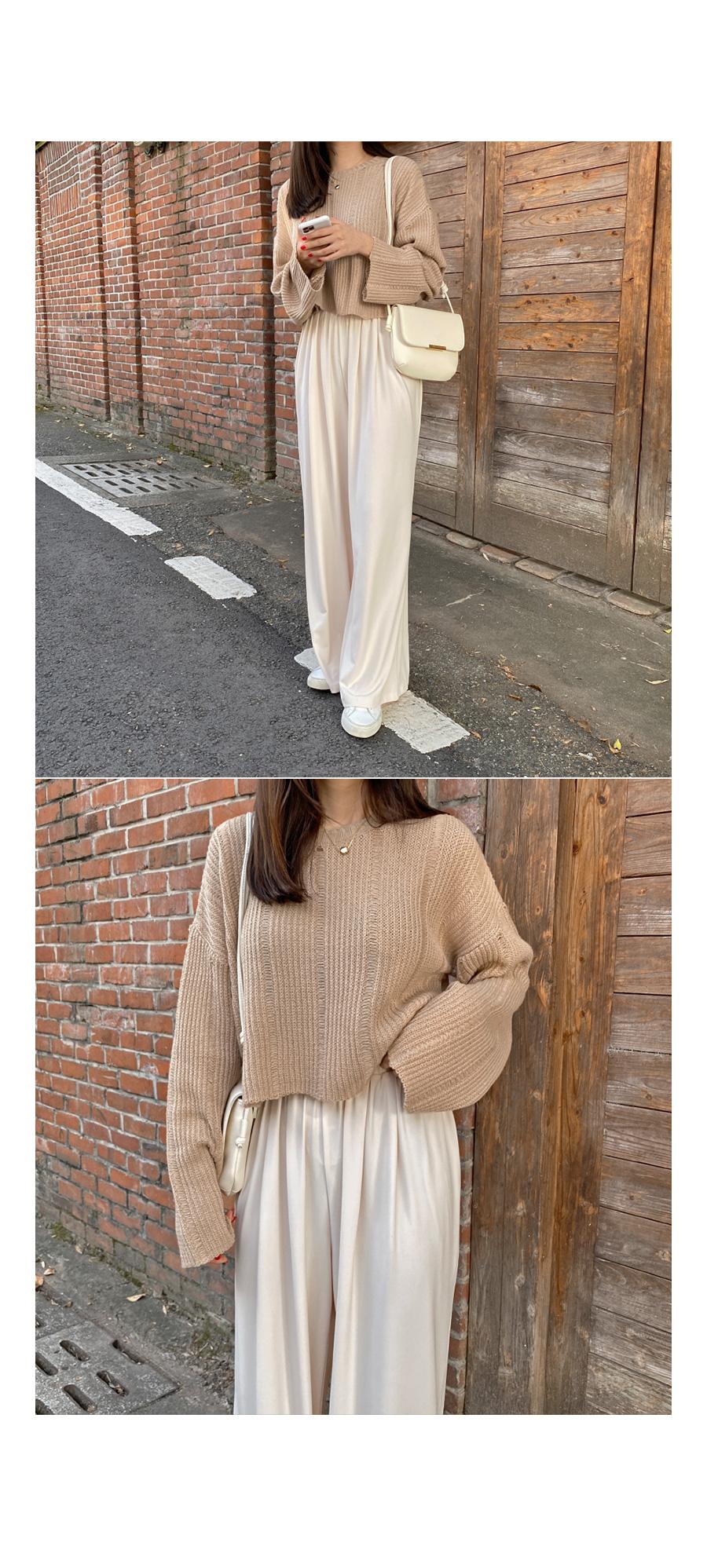 Lime crop knit