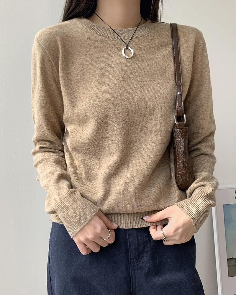 Mort cashmere round knit