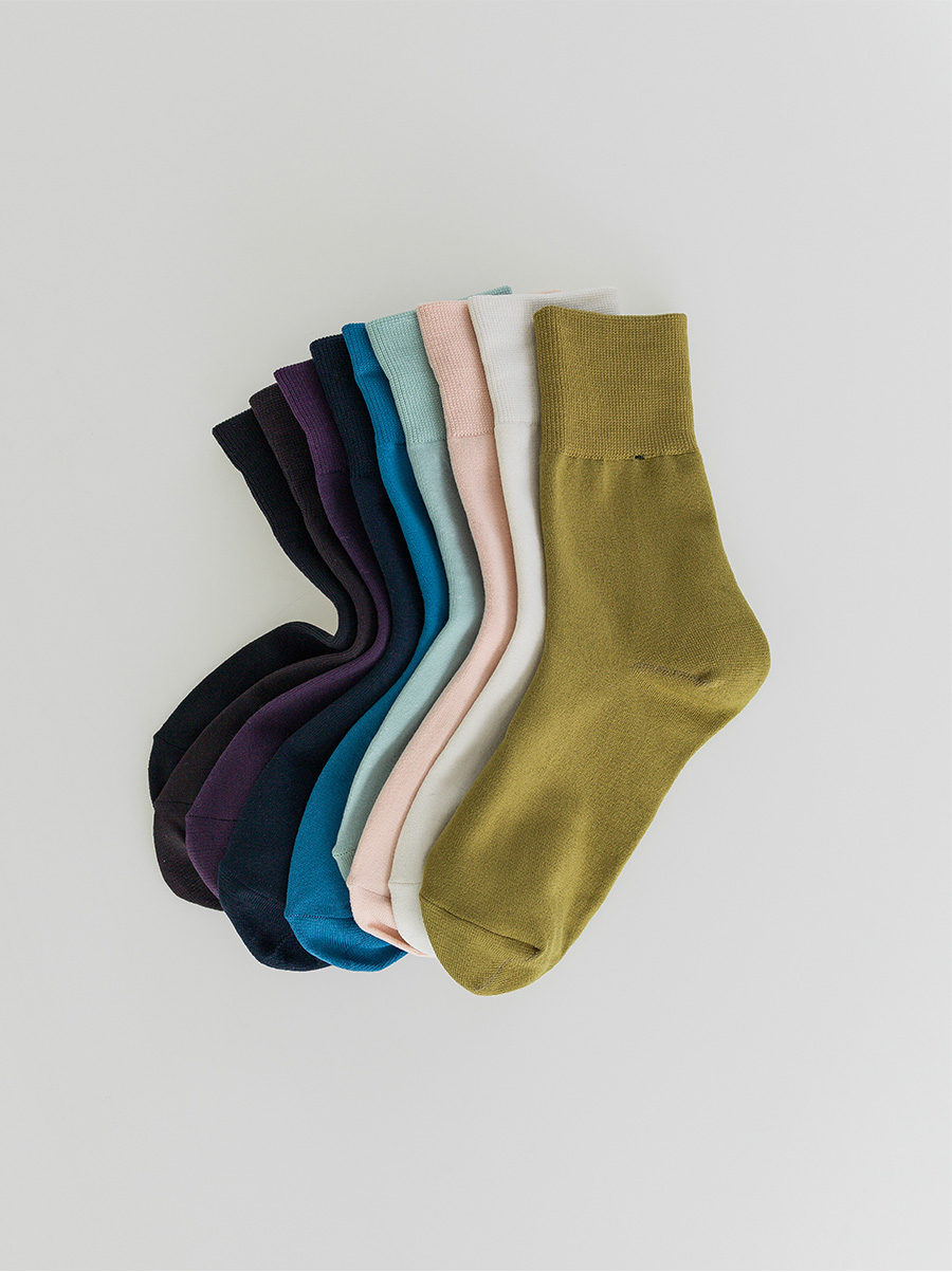 soft material solid socks