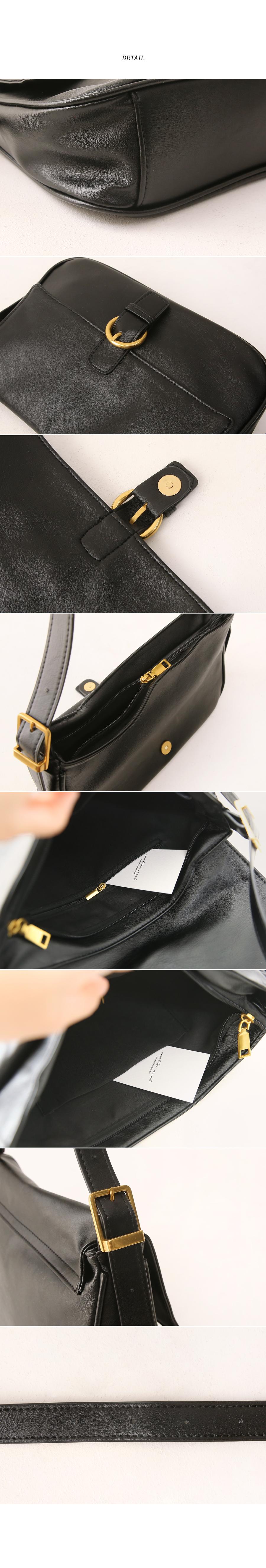MELLD SQUARE BUCKLE SHOULDER BAG
