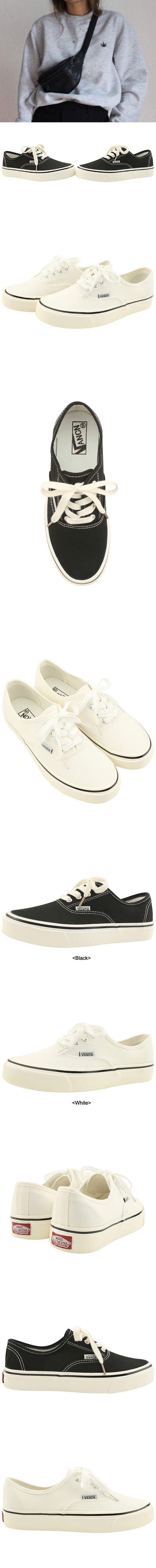 Daily Canvas Shoelace Sneakers White