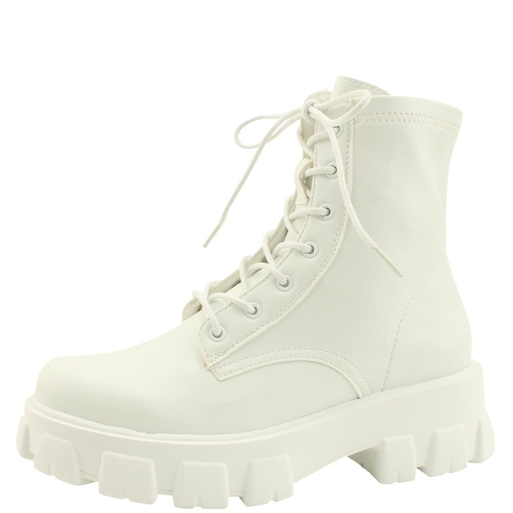 Span High Heel Walker 5cm White