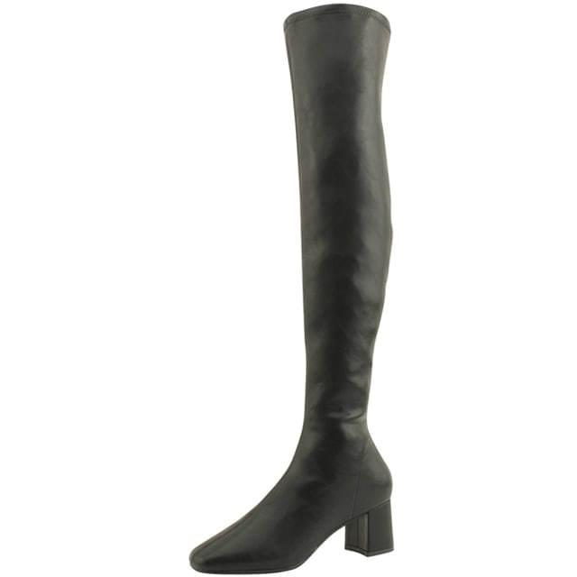 Psy High Middle Heel Span Long Boots Black