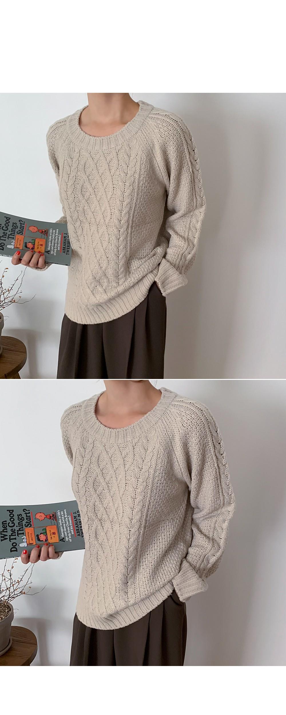 Fisherman Rouge Knit