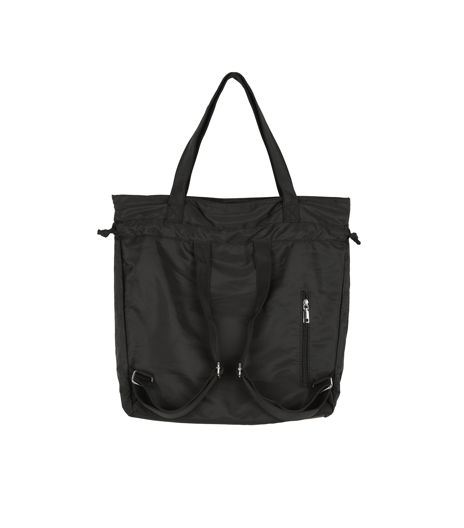 Two pocket string two-way backpack