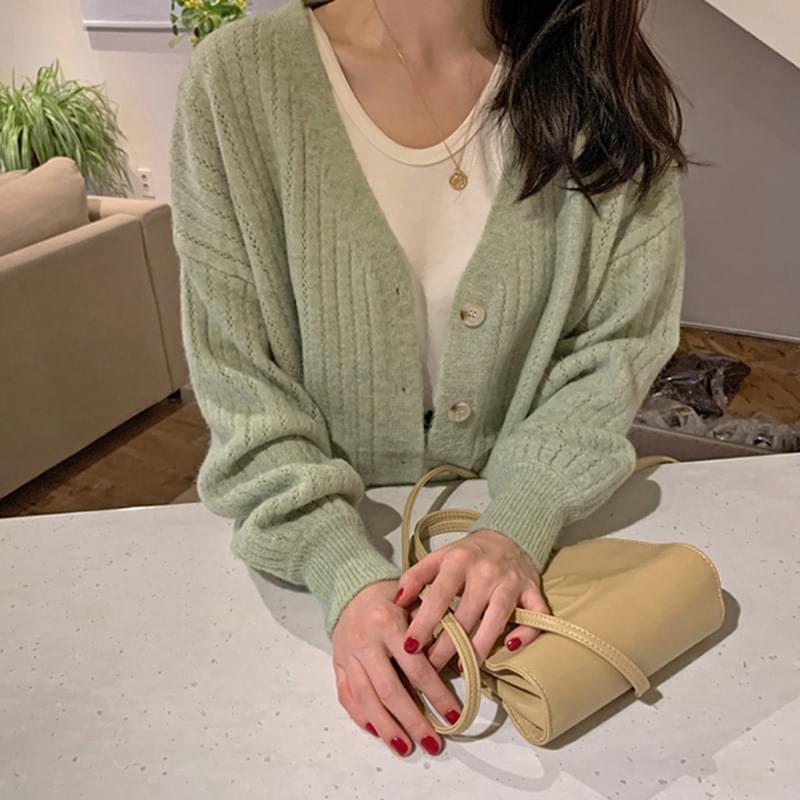 鈕釦針織毛衣外套