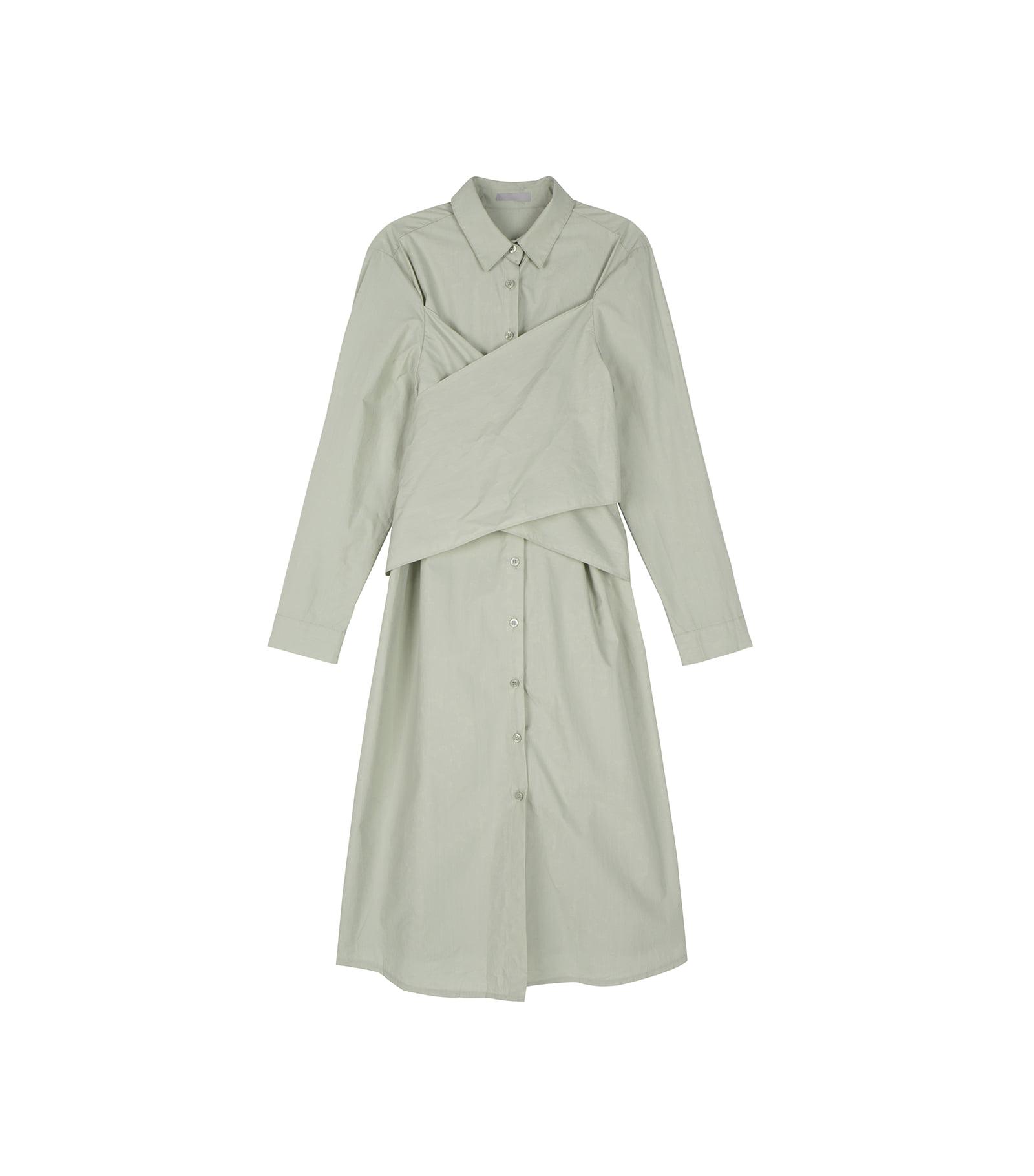 Bind wrap midi dress