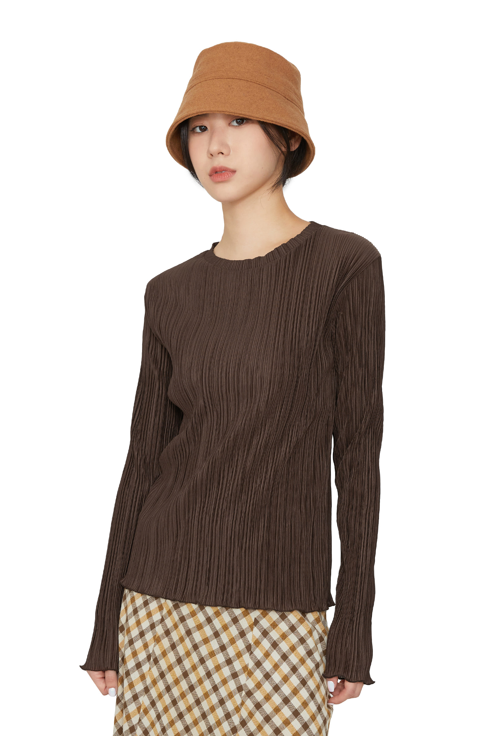 Take pleated evening top