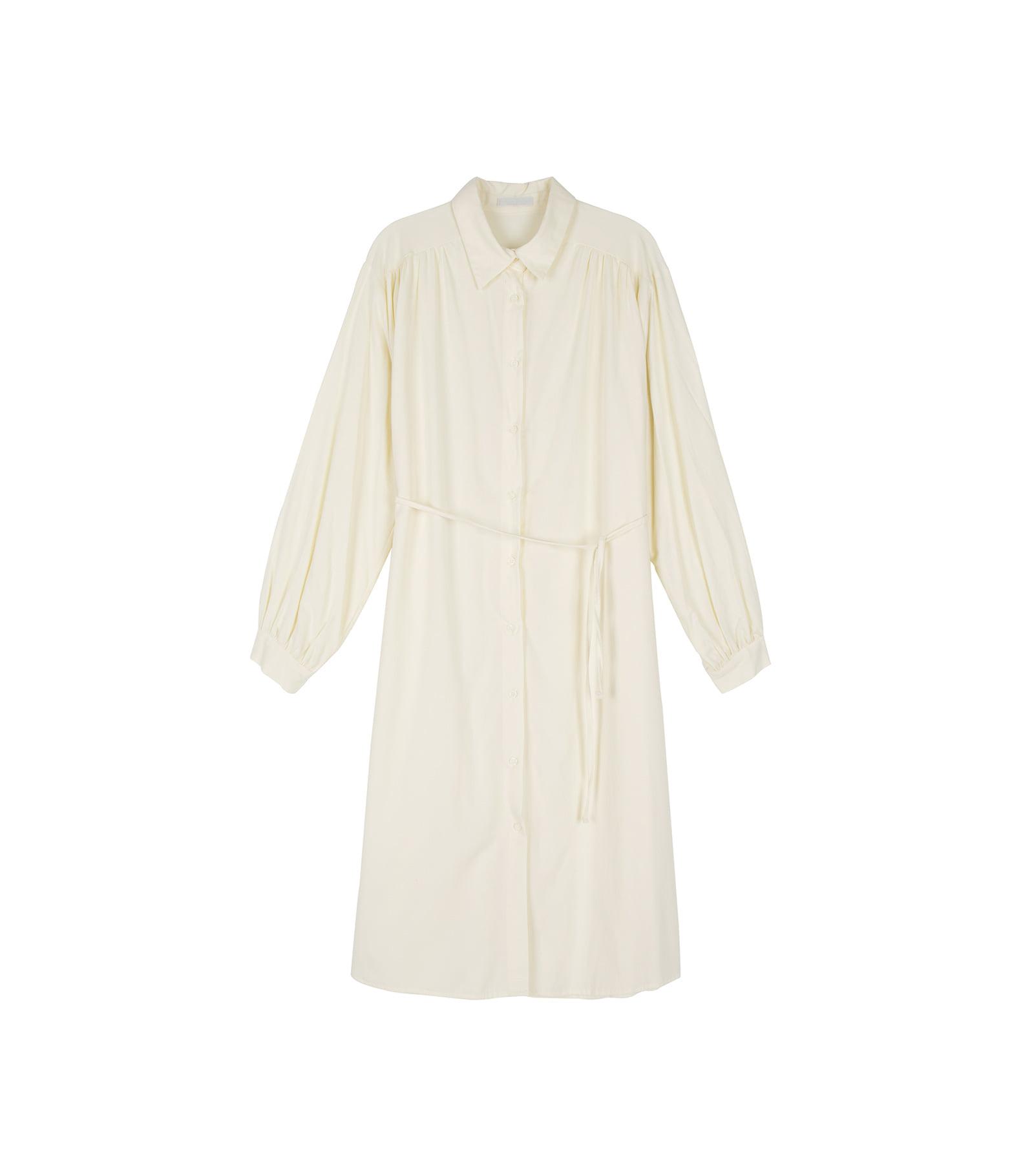 Melo shirred strap midi dress