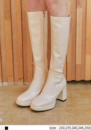 Block Heel Long Boots