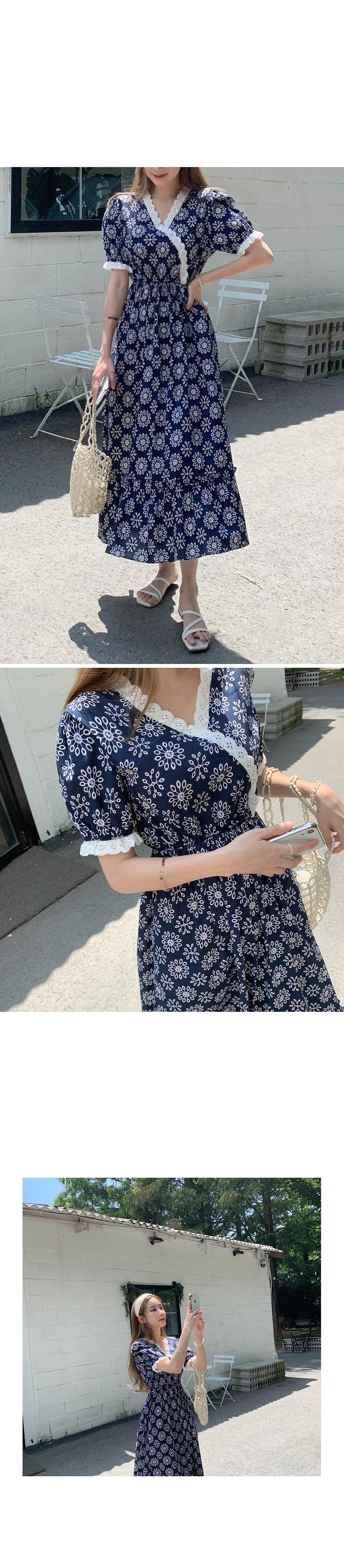 Yugo Girl Lace Flower Dress
