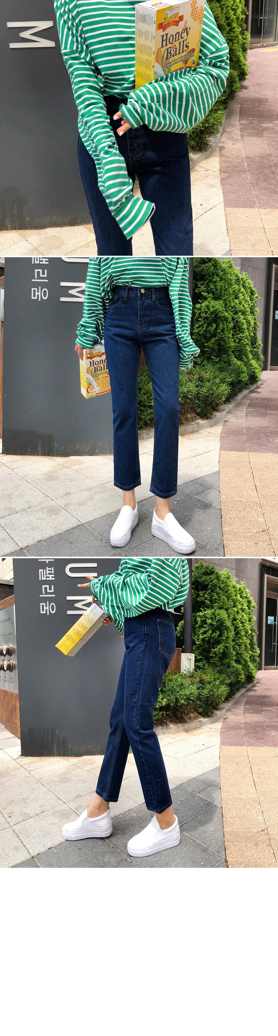 Core High Waist Part 9 Straight Jeans
