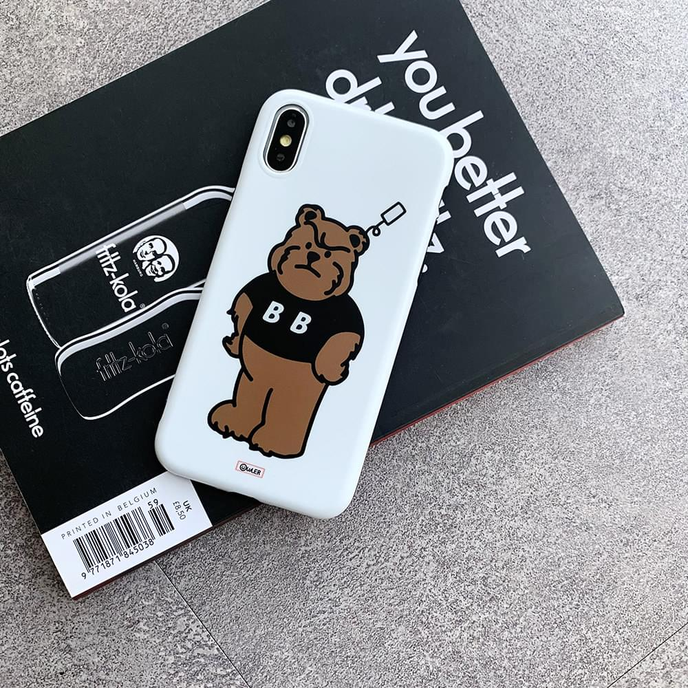 Angry BB Bear Matte Jelly iPhone Case