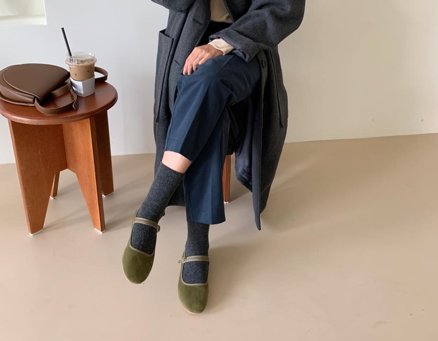 Simple angora wool socks_C