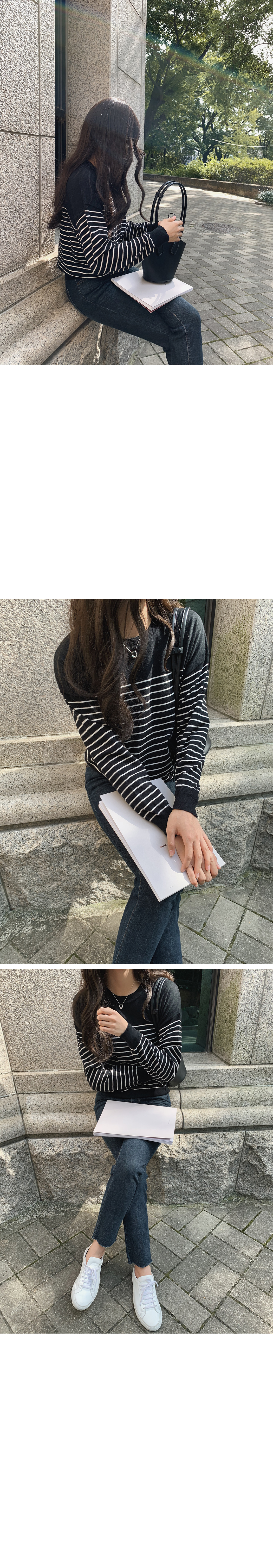 Dove viscose striped knit